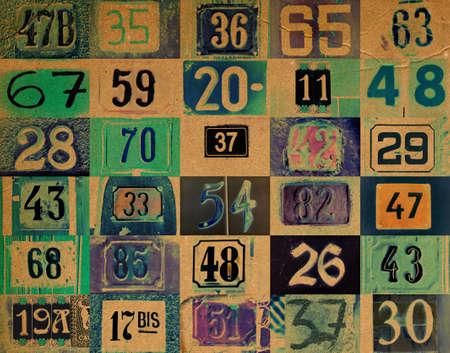 Ordinal: Hintergrund mit unterschiedlichen Typs Hausnummern  Lizenzfreie Bilder