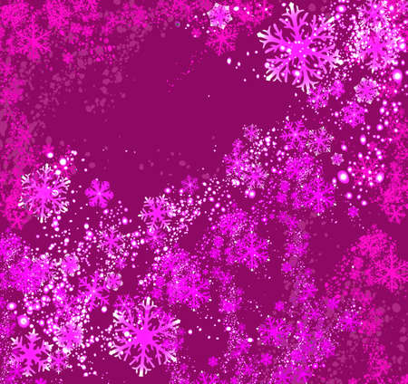 arching: dise�o de la fantas�a con los copos de nieve en rosado ligero