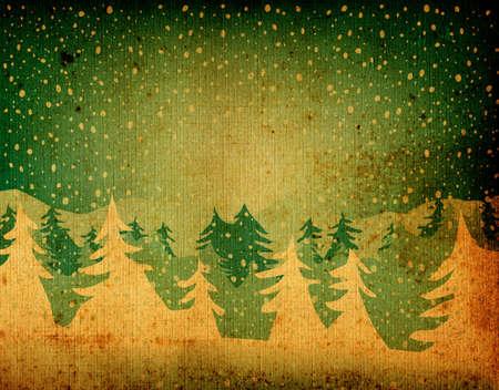 seasonable: grunge fir forest falling snow