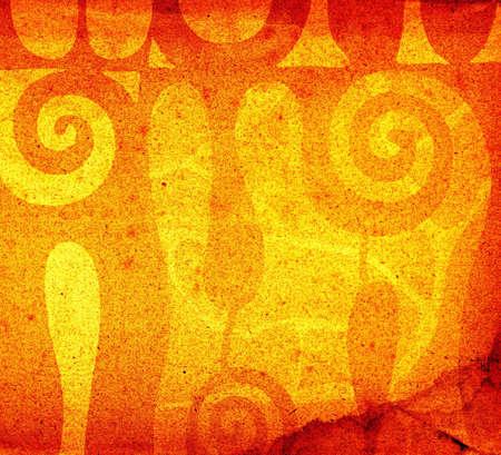 abstract decorative shapes background illustration Stock Illustration - 734608