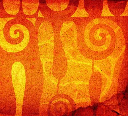 abstract decorative shapes background illustration Stock Illustration - 738369