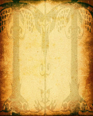 gothic design: abstract gothic design on grunge framed old paper