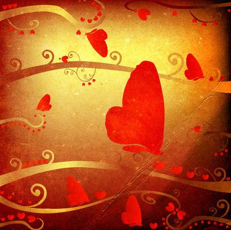 grunge design for valentines photo