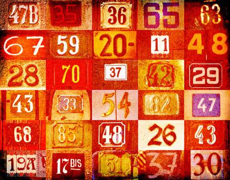 Ordinal: Farbigen Hintergrund mit unterschiedlichen Typs Hausnummern
