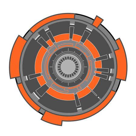 hitech: abstract futuristic hi-tech clockwork; illustration