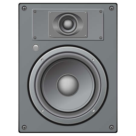 tweeter: highly detailed illustration of a two ways loudspeaker Stock Photo