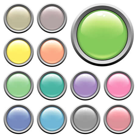 Glossy web buttons. Different colors Stock Photo - 1282738
