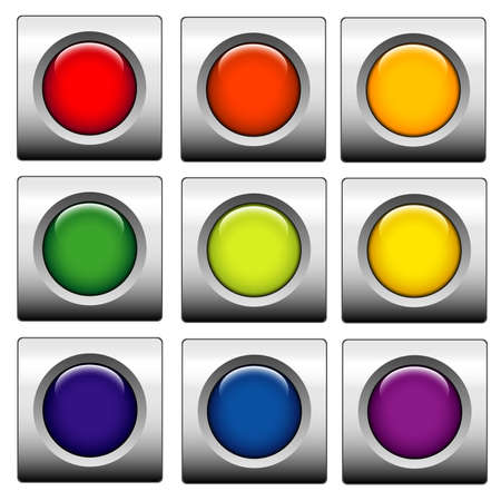 Glossy web buttons. Different colors Stock Photo - 1282739
