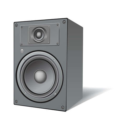 soundsystem: highly detailed illustration of a two ways loudspeaker Stock Photo