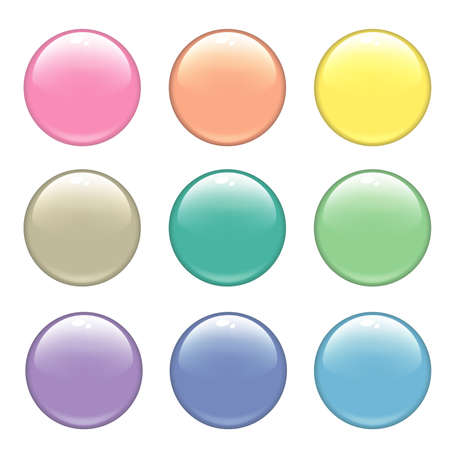 Glossy web buttons. Different colors photo