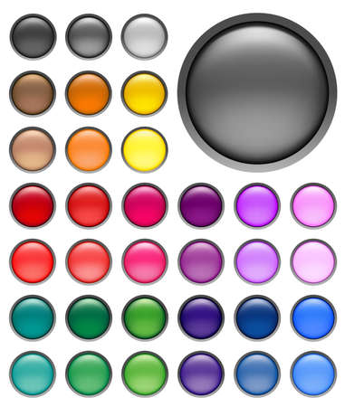 round web buttons with different shiny colors Stock Photo - 1446712
