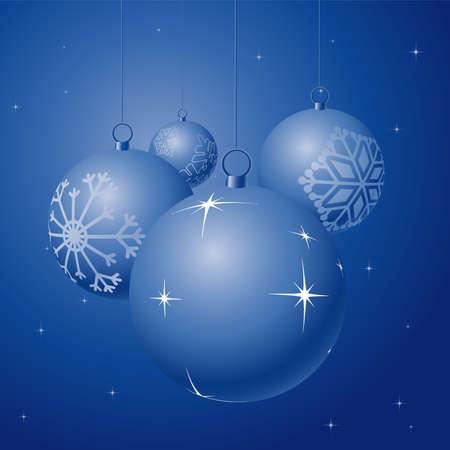 Shiny Christmas balls on stars background; illustration illustration