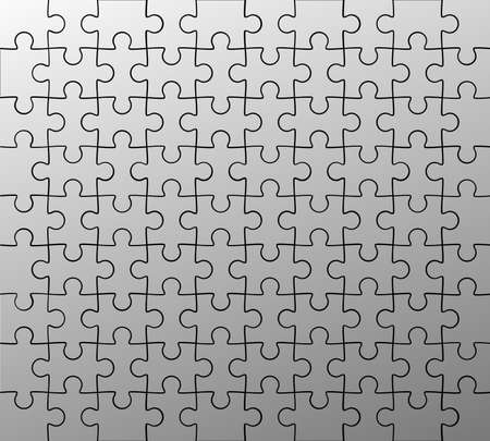 jigsaw puzzle pattern; ideal for your backgrounds Stock Photo