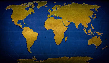 illustration of world map on textured background illustration