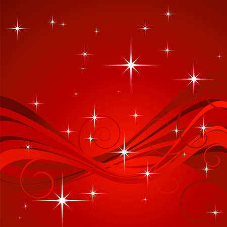 Christmas design with foliage and many stars Stock Photo - 2048356