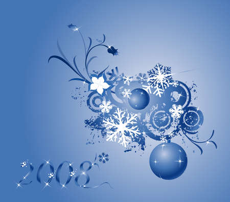 foliate: collection of shiny Christmas balls; design elements ready for your text!