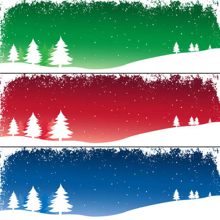 winter landscape with fir trees under falling snow Stock Photo - 2135327