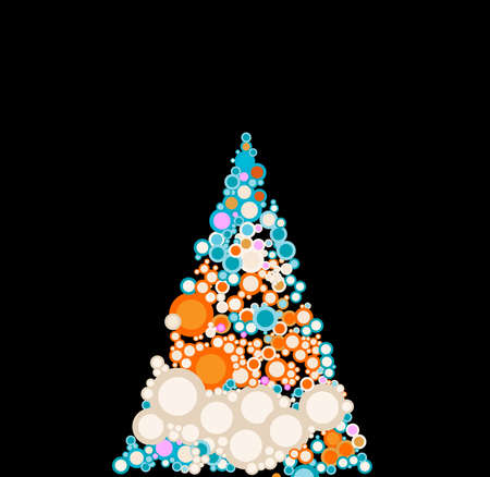 christmastree: abstract christmas-tree with circles Stock Photo