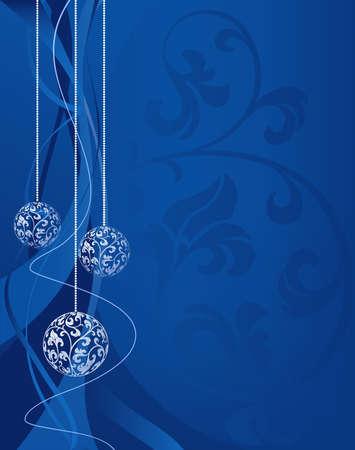 foliate: Christmas balls on foliate background