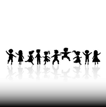 kids silhouettes Stock Photo - 2385340
