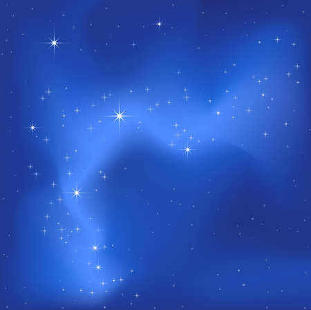 clear sky night with a lot of bright stars Stock Photo - 2454492