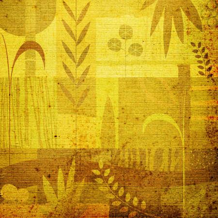 vegetal: abstract decorative vegetal design; illustration background in pastel colors
