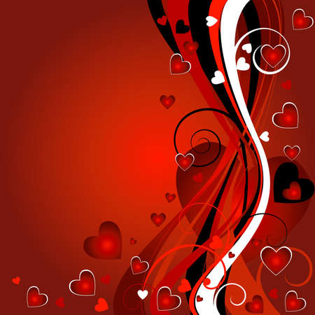 floral heart background for valentine`s day Stock Photo - 2471609