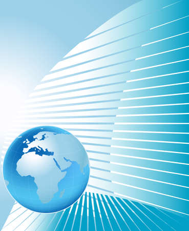 globalism: planet earth on abstract background Stock Photo