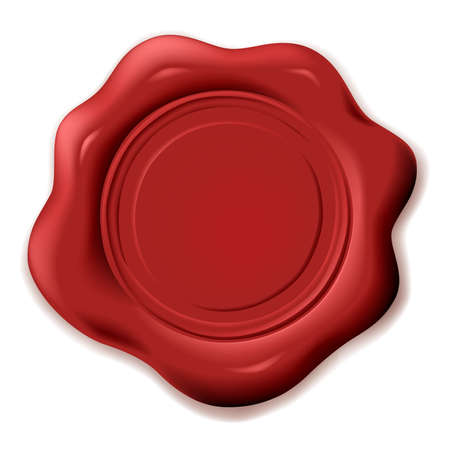 room for text: realistic wax seal with room for text