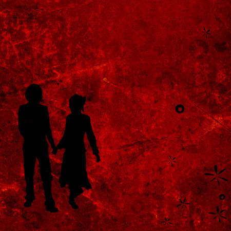 couple on a grunge background photo