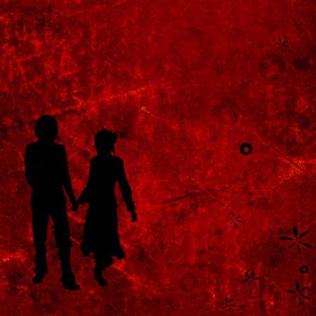 couple on a grunge background photo