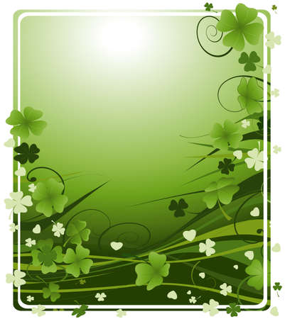 design for St. Patrick's Day with four and three leaf clovers Stock Photo - 2557788