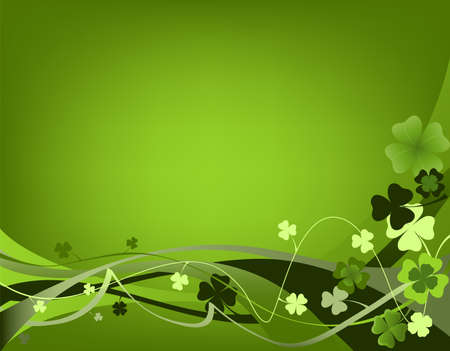 design for St. Patrick's Day with four and three leaf clovers Stock Photo - 2557776