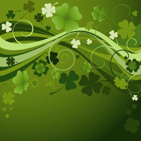 four leaf clovers: design for St. Patricks Day with four and three leaf clovers