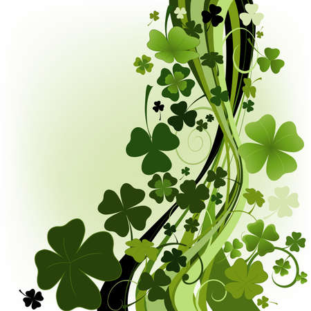 three leafed clover: design for St. Patricks Day with four and three leaf clovers
