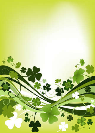 irish easter: design for St. Patricks Day with four and three leaf clovers