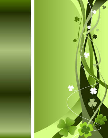 design for St. Patrick's Day with four and three leaf clovers Stock Photo - 2574763