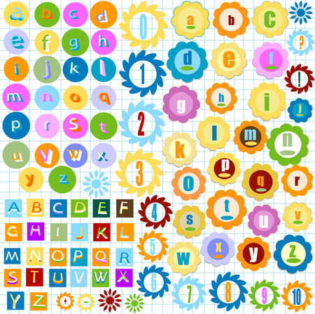 very colorful alphabet for kids  photo