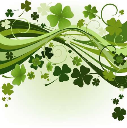 design for St. Patrick's Day with four and three leaf clovers Stock Photo - 2586052