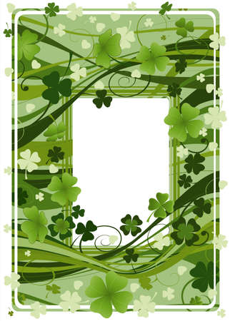 design for St. Patrick's Day with four and three leaf clovers  Stock Photo - 2586063