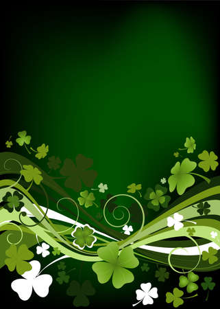 design for St. Patrick's Day with four and three leaf clovers  Stock Photo - 2586047
