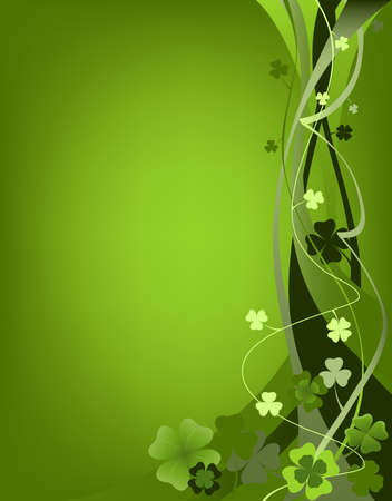 design for St. Patrick's Day with four and three leaf clovers Stock Photo - 2586035
