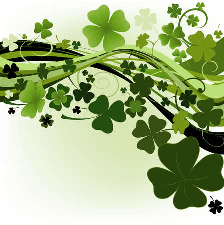 three leaves: design for St. Patricks Day  Stock Photo