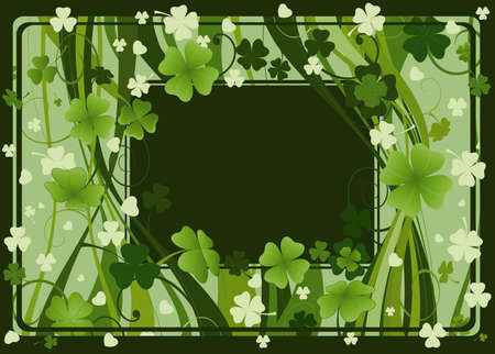 three leafed: frame for St. Patricks Day