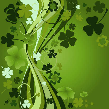 three leafed: design for St. Patricks Day
