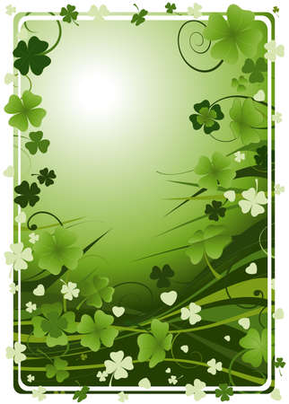 three leafed clover: St. Patricks Day  Stock Photo