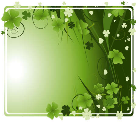three leafed: design for St. Patricks Day  Stock Photo