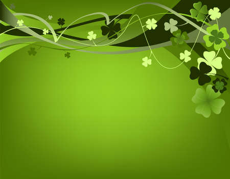 design for St. Patrick's Day with four and three leaf clovers  Stock Photo - 2606456