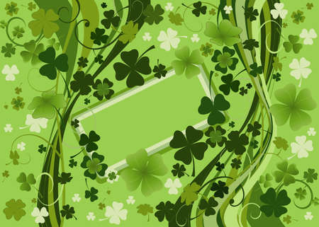 design for St. Patrick's Day with four and three leaf clovers Stock Photo - 2639247