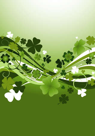 design for St. Patrick's Day with four and three leaf clovers  Stock Photo - 2679709